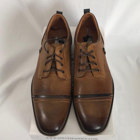 5f9682af32e Men s Steve Madden Jameson Tan Leather Shoes-13